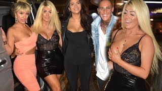 Chloe Ferry parties in PVC miniskirt and lace bodysuit filming Geordie Shore in Newcastle