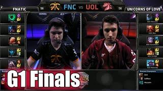 Fnatic vs Unicorns of Love | Game 1 Grand Finals S5 EU LCS Spring 2015 playoffs | FNC vs UOL G1