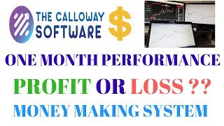 CALLOWAY Software - One month Performance- Profit or Loss Money Making System