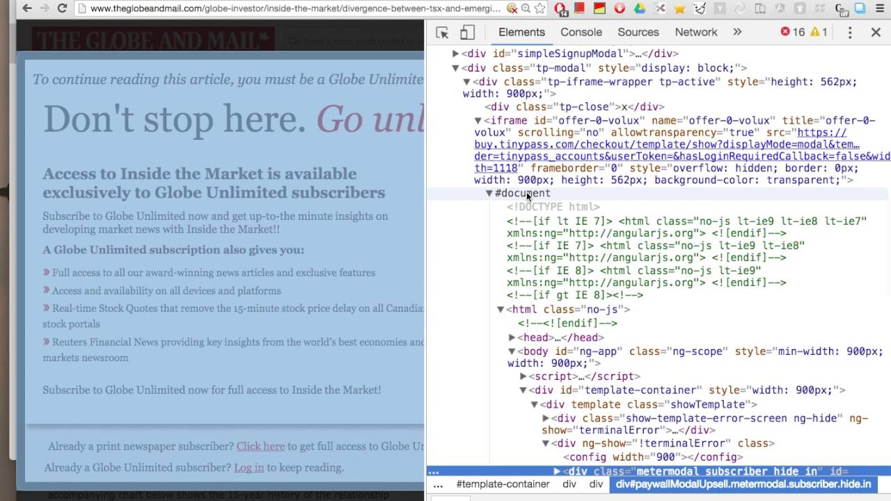 News Paywalls Don't Work Part II: Globe and Mail Version