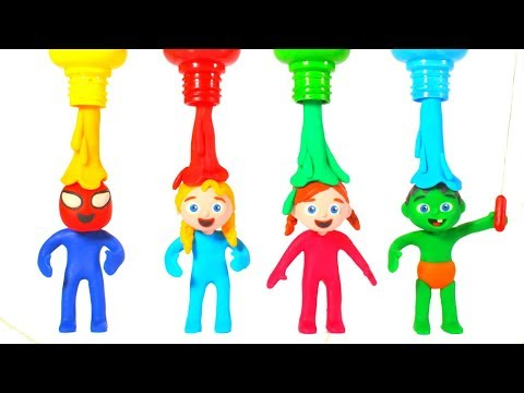 SUPERHERO BABIES PLAYING WITH COLOR PAINTS 鉂� SUPERHERO PLAY DOH CARTOONS FOR KIDS