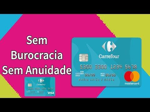 CARTÃO FÁCIL DE APROVAR  CARREFOUR ZERO ANUIDADE