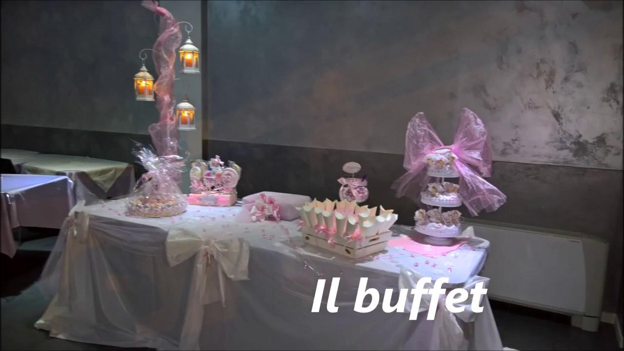 Come Addobbare Un Tavolo Per Confettata battesimo - allestimento - youtube