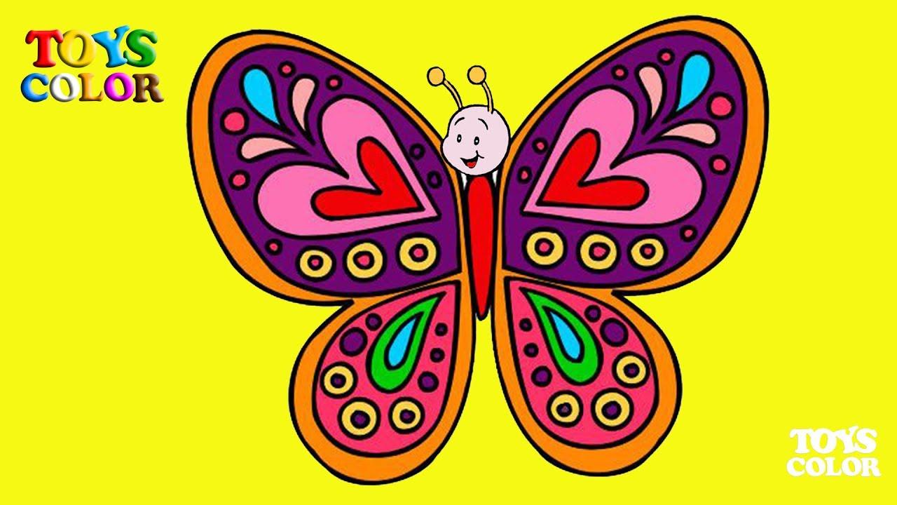 Como Dibujar y Colorear una Mariposa, Dibujar y Colorear, Coloring ...