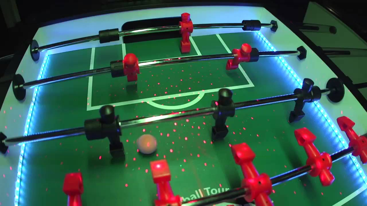Warriors FORCE LED Party Foosball Table Available For Xmas YouTube - Foosball table light