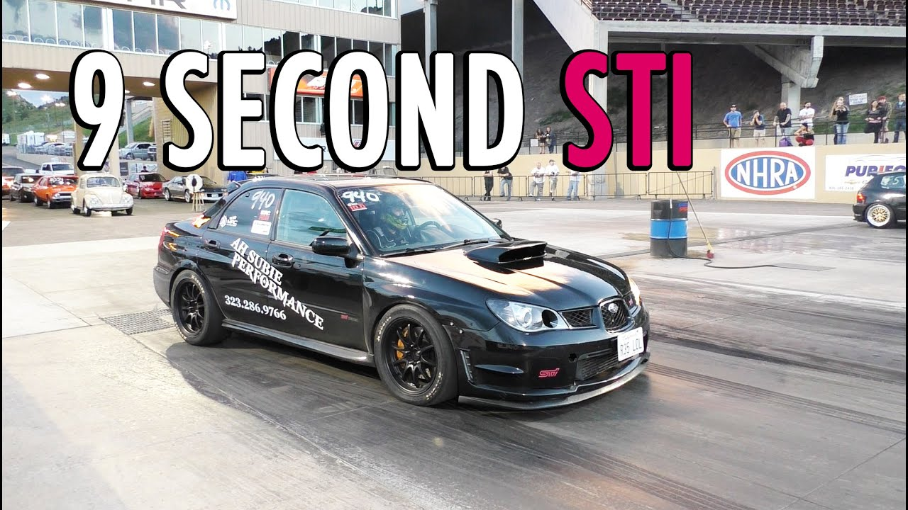 Fastest Subaru STi In Colorado - 9.997 @ 140 MPH - YouTube