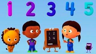 """Развивающий мультик про цифры """"Считаем с Полой"""". Учимся считать. Цифра 5"""