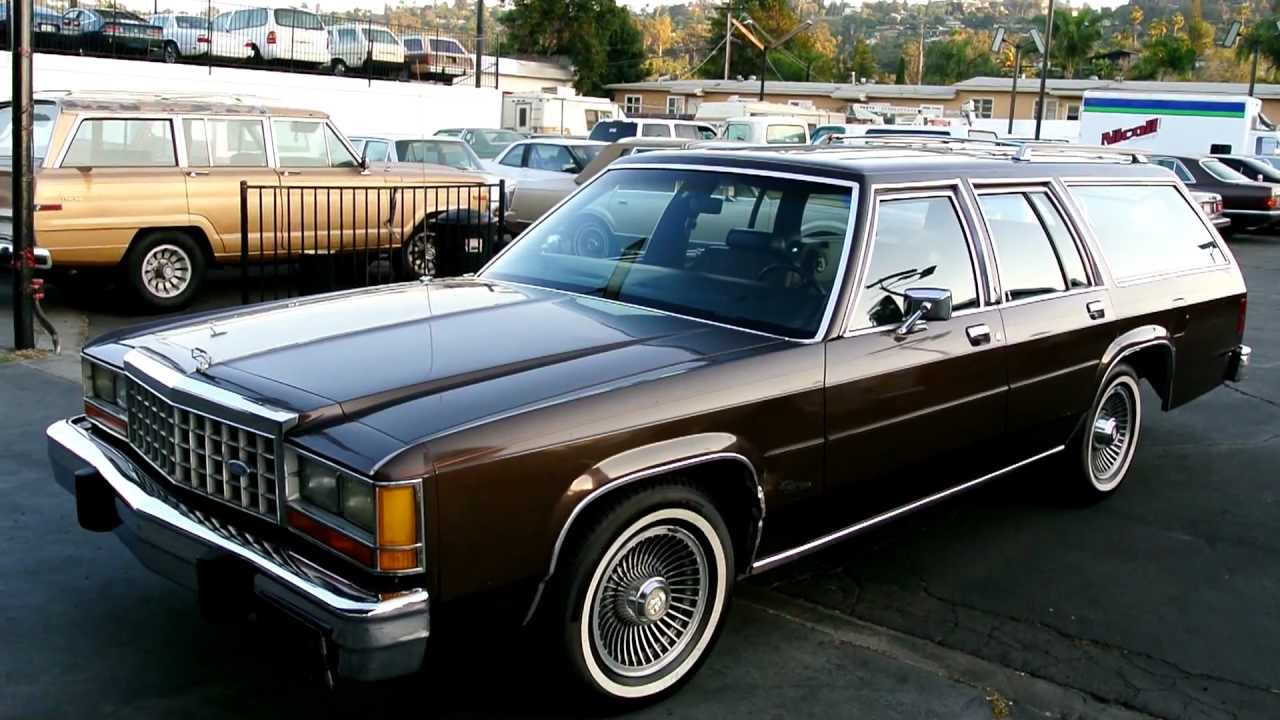 1987 ford crown victoriia ltd station wagon break estate 1 owner low mile