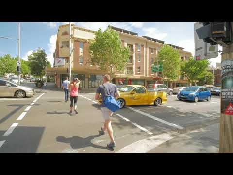 Sydney Video Walk 4K - Go Through King Cross Spring 2017