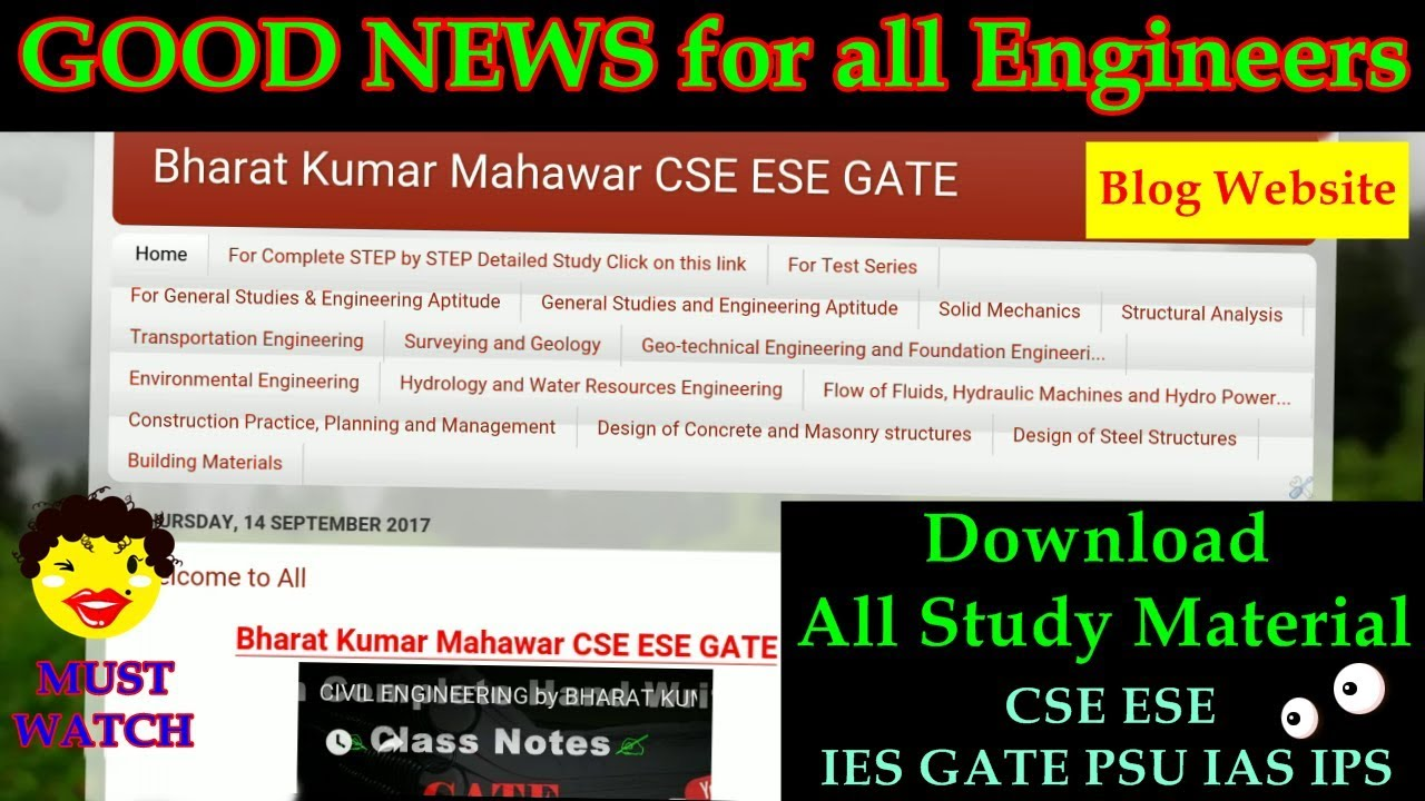 Educational Material Download Related to IES GATE PSU IAS IPS by Bharat  Kumar Mahawar