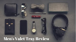 Men's Valet Tray aka Nighstand Organizer - Great Gift For Men