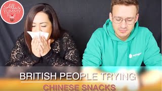 British People Trying Chinese Snacks