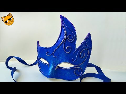 Как сделать новогоднюю маску из папье маше своими руками.