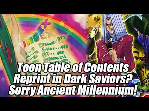 Toon Table of Contents Reprint in Dark Saviors? Sorry Ancient Millennium!