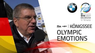 Olympic emotions with Thomas Bach | BMW IBSF World Championships 2017