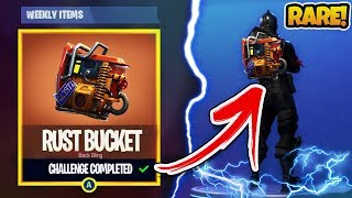 "How To Unlock *NEW* ""Rust Bucket"" SECRET CHALLENGE in Fortnite Battle Royale! (Fortnite Brite Bag)"
