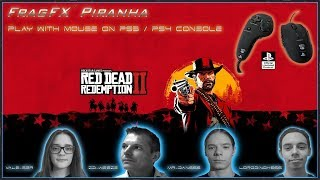 RED DEAD REDEMPTION 2 - FRAGFX PIRANHA PS4 PRO GAMING MOUSE 🖱️ - Sony officially licensed Controller