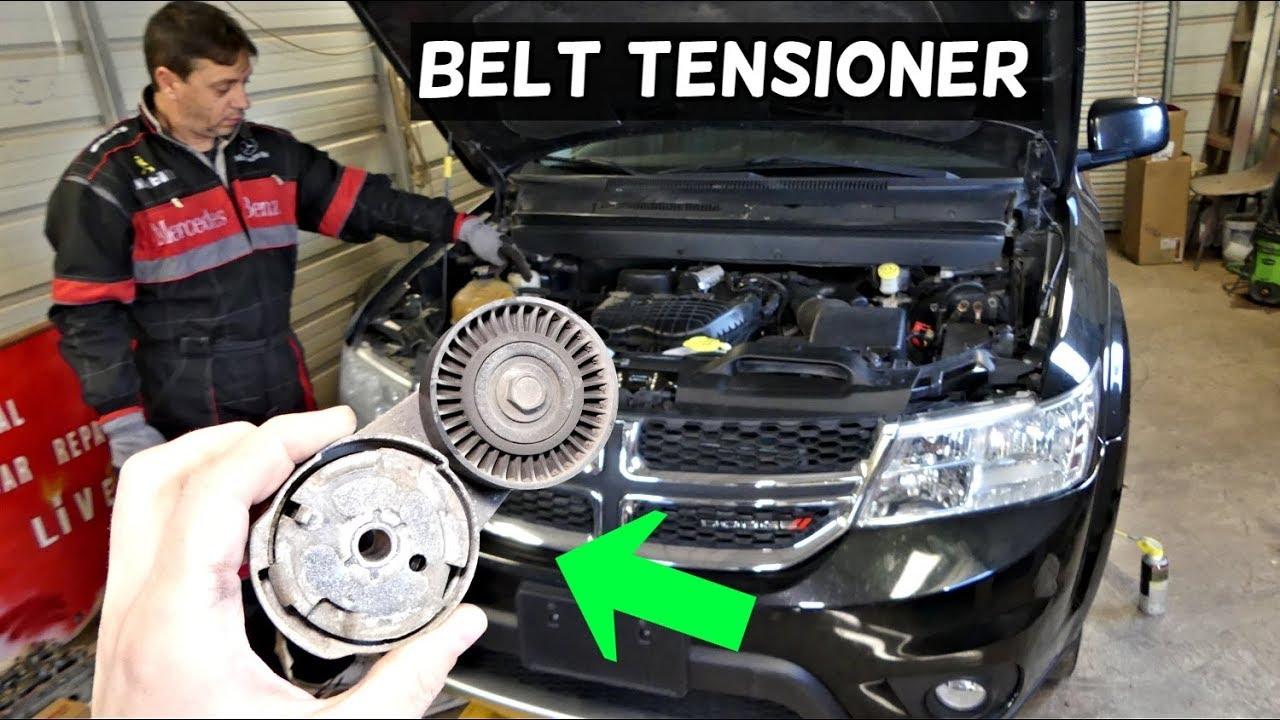dodge journey serpentine belt tensioner replacement 3 6 v6 fiat freemont [ 1280 x 720 Pixel ]