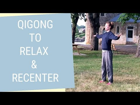 10 Minute Qigong Routine to Relax & Calm the Mind - Qigong Exercises for Stress & Tension Relief