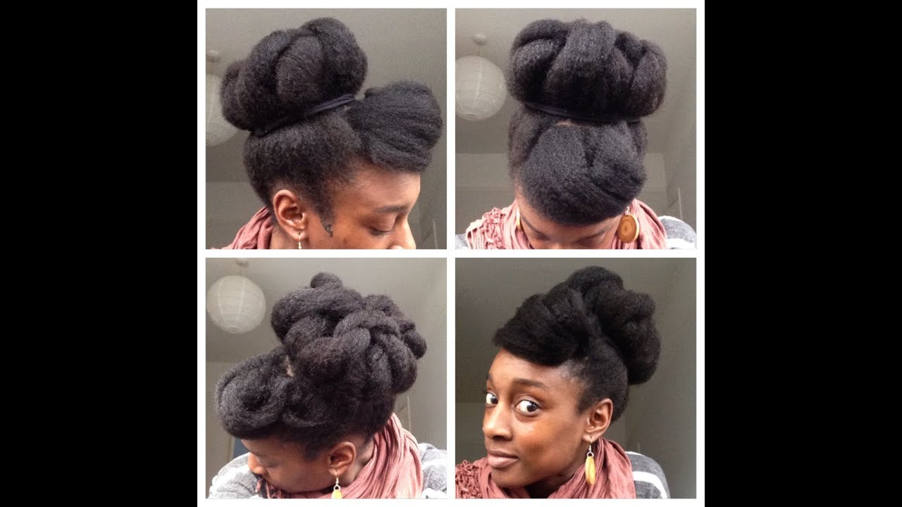 Big Easy Bun Tutorial On Fine 4c Hair Youtube