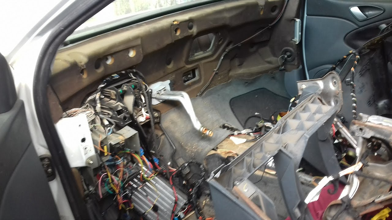 Citroen C5 Mk1 2003 Dashboard Removal Heater Matrix And