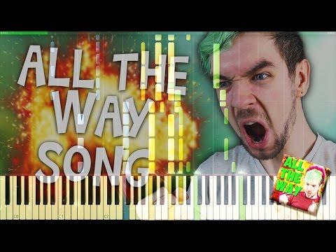 🎹 Synthesia  Schmoyoho  All The Way ft jacksepticeye Piano   Avemflamma HD