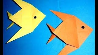 Как сделать рыбки из бумаги