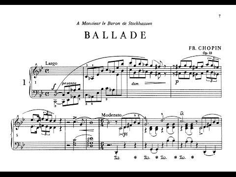 Chopin Ballade No.1 in G minor, Op. 23 / Krystian Zimerman (with Score)