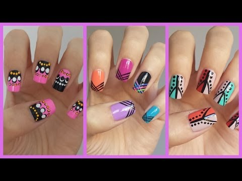 Easy Nail Art For Beginners!!! #12 | JennyClaireFox