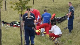 A balesetet szenvedett motorost megtaláló asszonnyal beszélgettünk