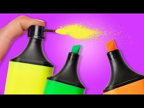 25 COOL LIFE HACKS WITH MARKERS
