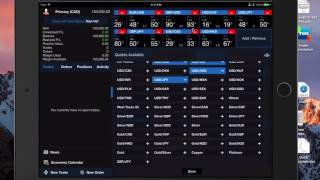 Demo of Oanda FX trader for Forex trading on Apple iPad iPhone