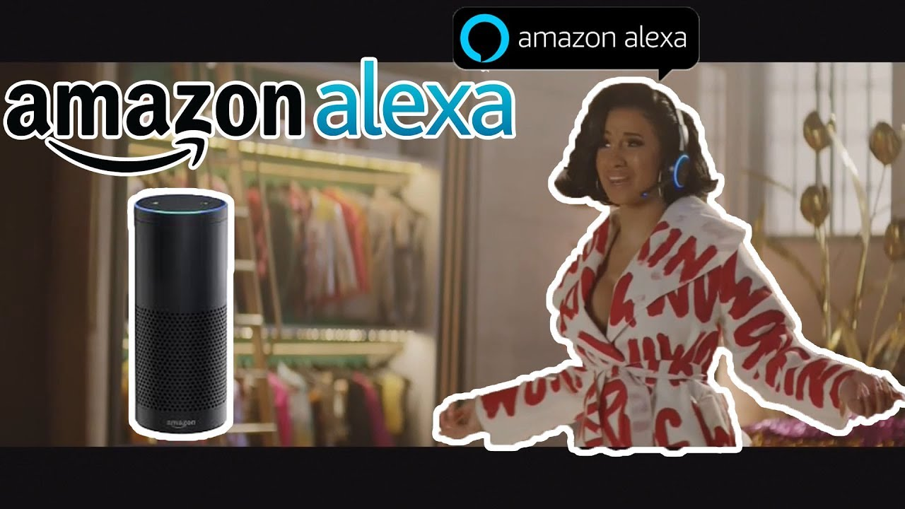 Cardi B Commercial Amazon Alexa - superbowl 2018