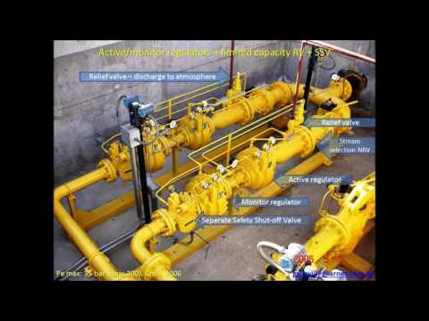 Pressure reduction and safety systems in supply of natural gas