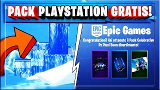 PACK PS PLUS GRATIS OGGI! + GAMEPLAY CASTELLO PICCO POLARE NEL MARE! (FORTNITE SEASON 9)