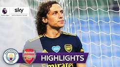 David Luiz mit Doppelpatzer & roter Karte | Man City - Arsenal 3:0 | Highlights - Premier League