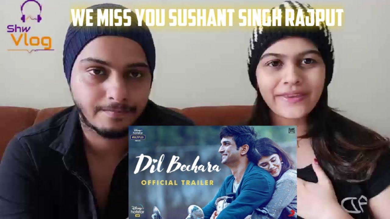 Dil Bechara  Trailer Reaction Sushant Singh Rajput | Sanjana Sanghi | Mukesh Chhabra | AR Rahman