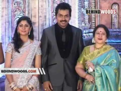 Karthi Wedding Reception karthi ranjani vikram vijay suriya chiranjeevi