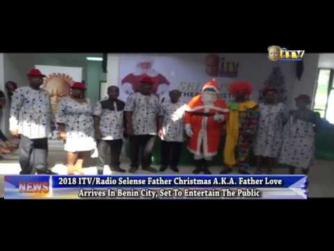 ITV/Radio Selense Father Christmas A.K.A. Father Love arrives in Benin