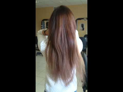 Наращивание волос, 100 прядей, 55 см