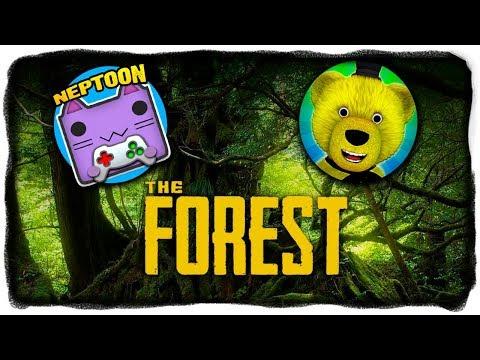 НЕПТУН И FNAF PLAY ВЫЖИВАЮТ В THE FOREST! 🔴 THE FOREST СТРИМ