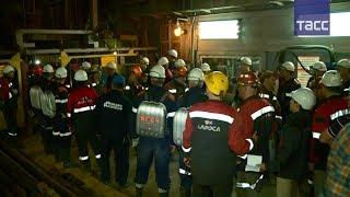 На руднике в Якутии продолжается эвакуация горнорабочих