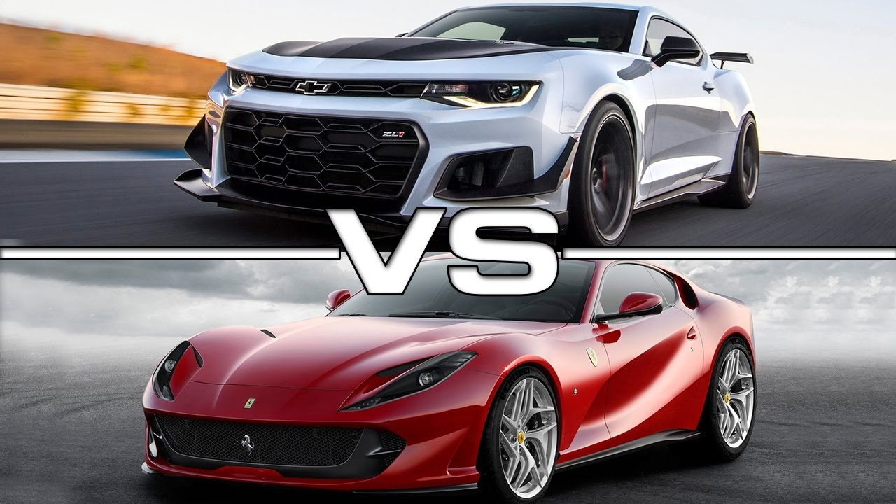 2018 Chevrolet Camaro Zl1 Vs 2018 Ferrari 812 Superfast