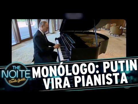 Monólogo: Putin pianista e novo cabelo do cameraman | The Noite (18/05/17)
