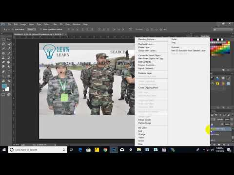 Part 4 - Creating Web Site Template In Photoshop And Exporting It As HTML Site