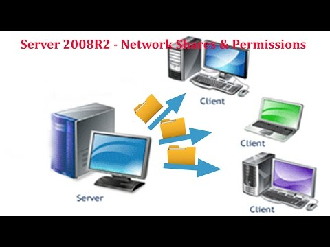 Server 2008 R2 - How To Setup Sharing With User Permissions Between Domain Server And Client System.