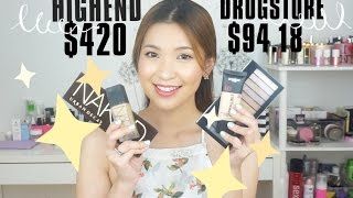 FULL FACE HIGHEND vs DRUGSTORE | SWEET SUMMER BRONZE | MAKEUP NỬA MẶT || By THEMAKE.A.HOLICS