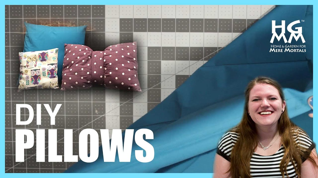 how to make your own decorative pillows