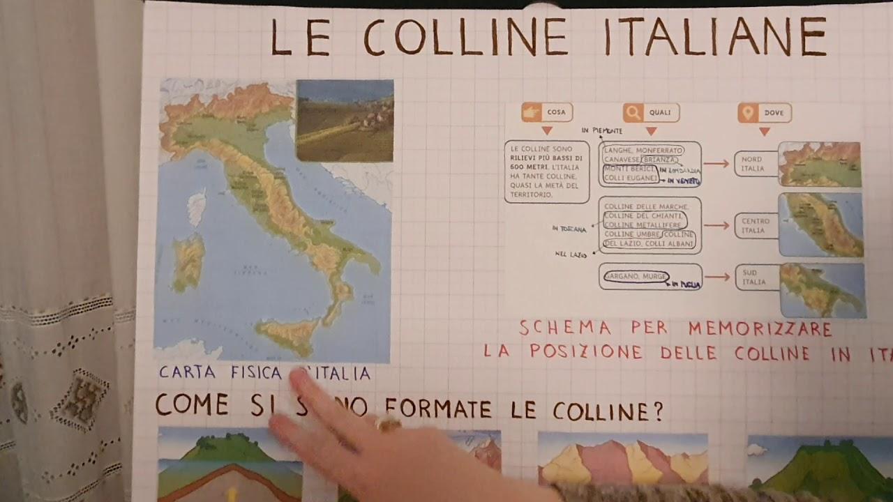 Cartina Fisica Italia Colline.Le Colline In Italia Youtube