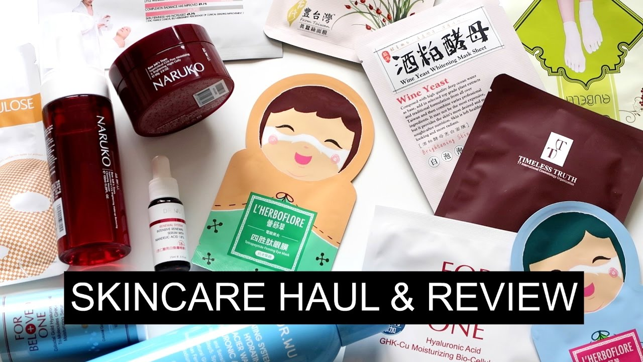 Taiwanese Skincare Haul & Review!